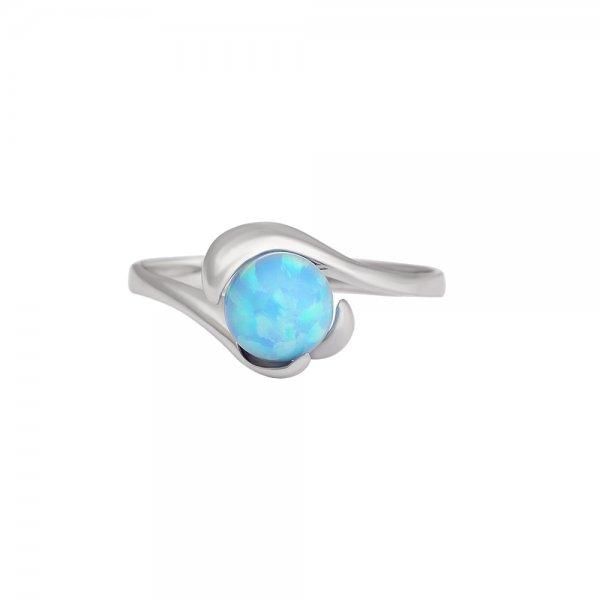 4deb9b1e3 Prsten se syntetickými opály 327-087-1155 | Klenoty Aurum